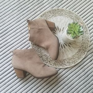 Lands End Leather Ankle Booties Size 8